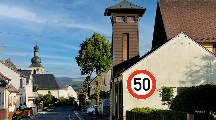 Bild Keine 30er Zonone - Streitauer Hauptstrasse