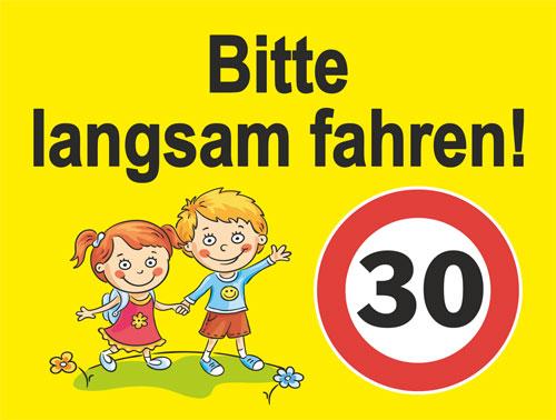 Bild Bitte langsam fahren