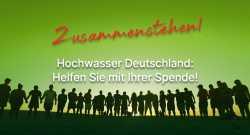 Spendenaufruf Hochwasser Deutschland